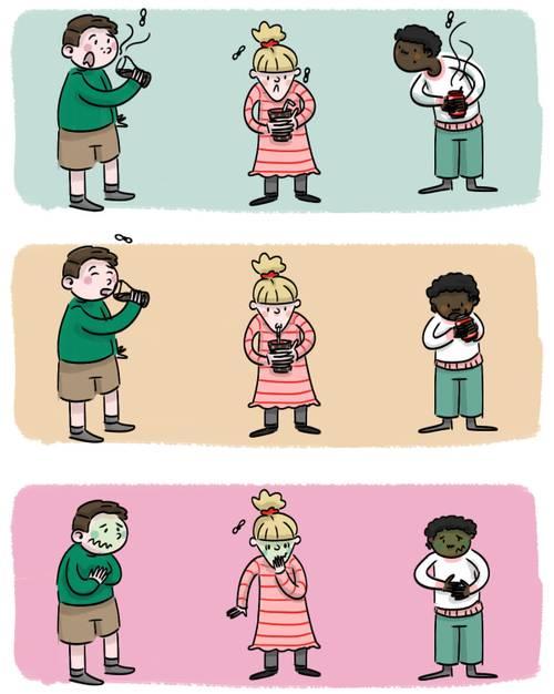 Illustration Sciencetips : l'effet nocebo