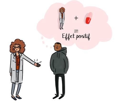 Illustration Sciencetips : l'effet placebo