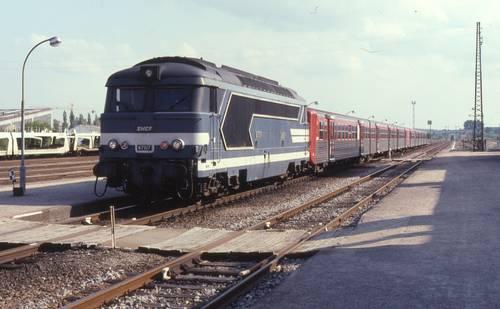 Locomotive diesel-électrique BB 67517 Lauterbourg-Strasbourg, 4 juin 1991, Phil Richards